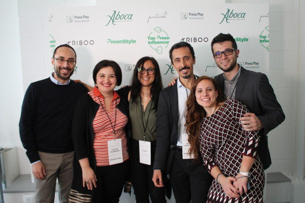 organizzatori e ufficio stampa Top Green influencer